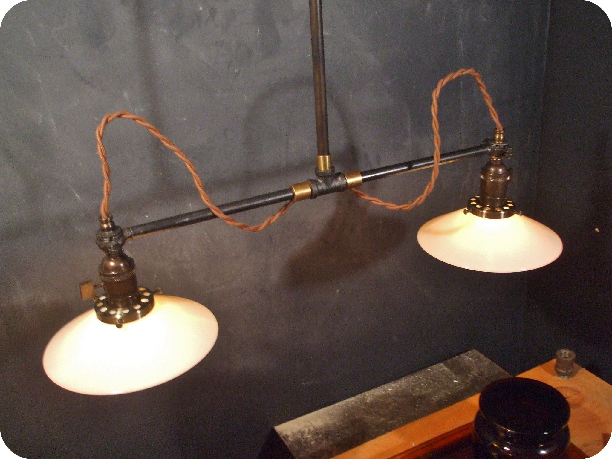 vintage industrial double shade ceiling sconce machine age flat shade pendant lamp light double antique industrial pendant lights white