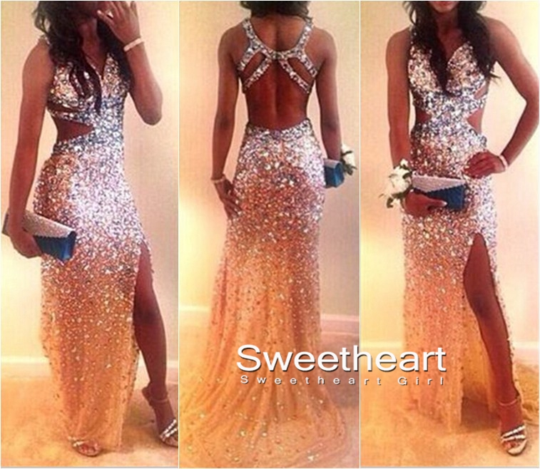 Sweetheart Girl | Custom Made Sweetheart Backless Tulle Long Prom ...
