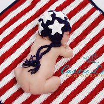 Stars and Stripes Newborn photography prop