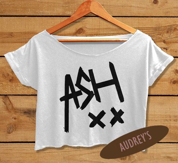 ASH01TFT_original ash crop top 5sos tshirt ashton irwin shirt women's 5 seconds of,5 Seconds Of Summer Womens Clothing