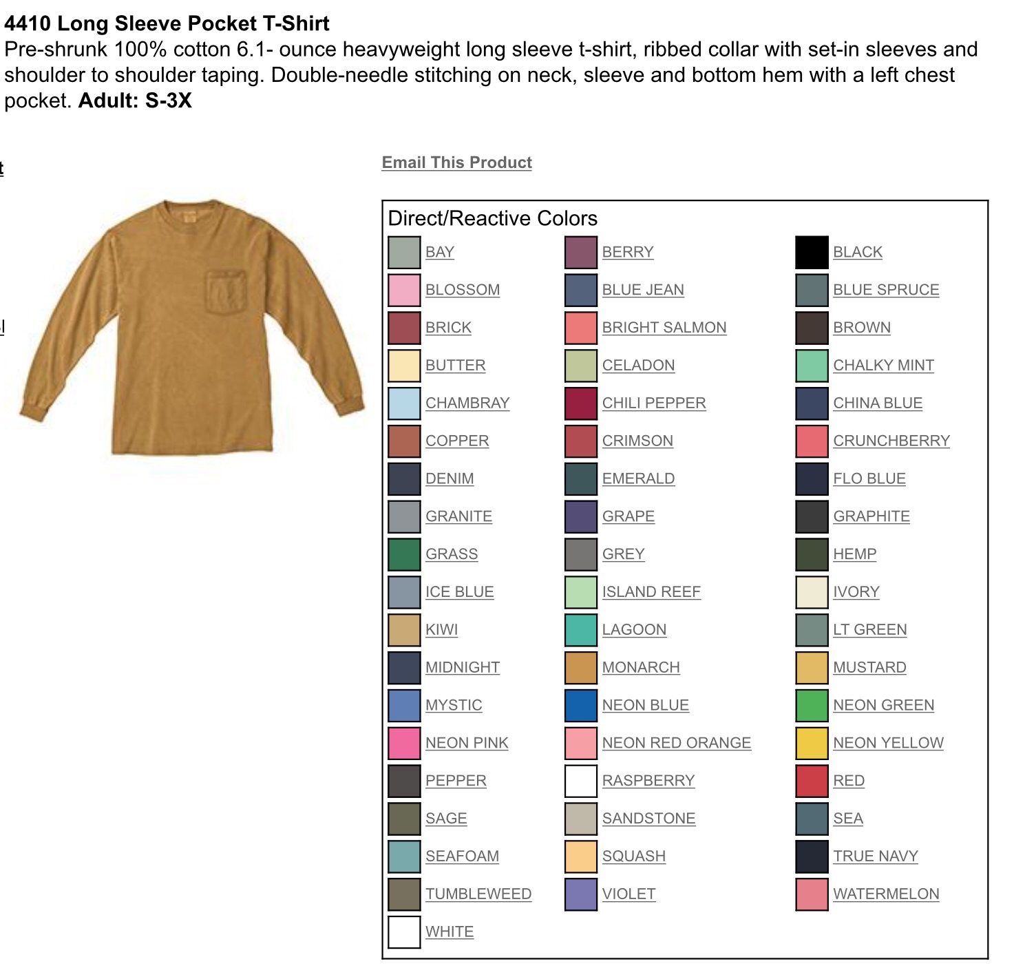Comfort Colors Long Sleeve Pocket Tee Banana Bug Design Online