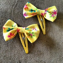 Yellow Flower Hair Clips