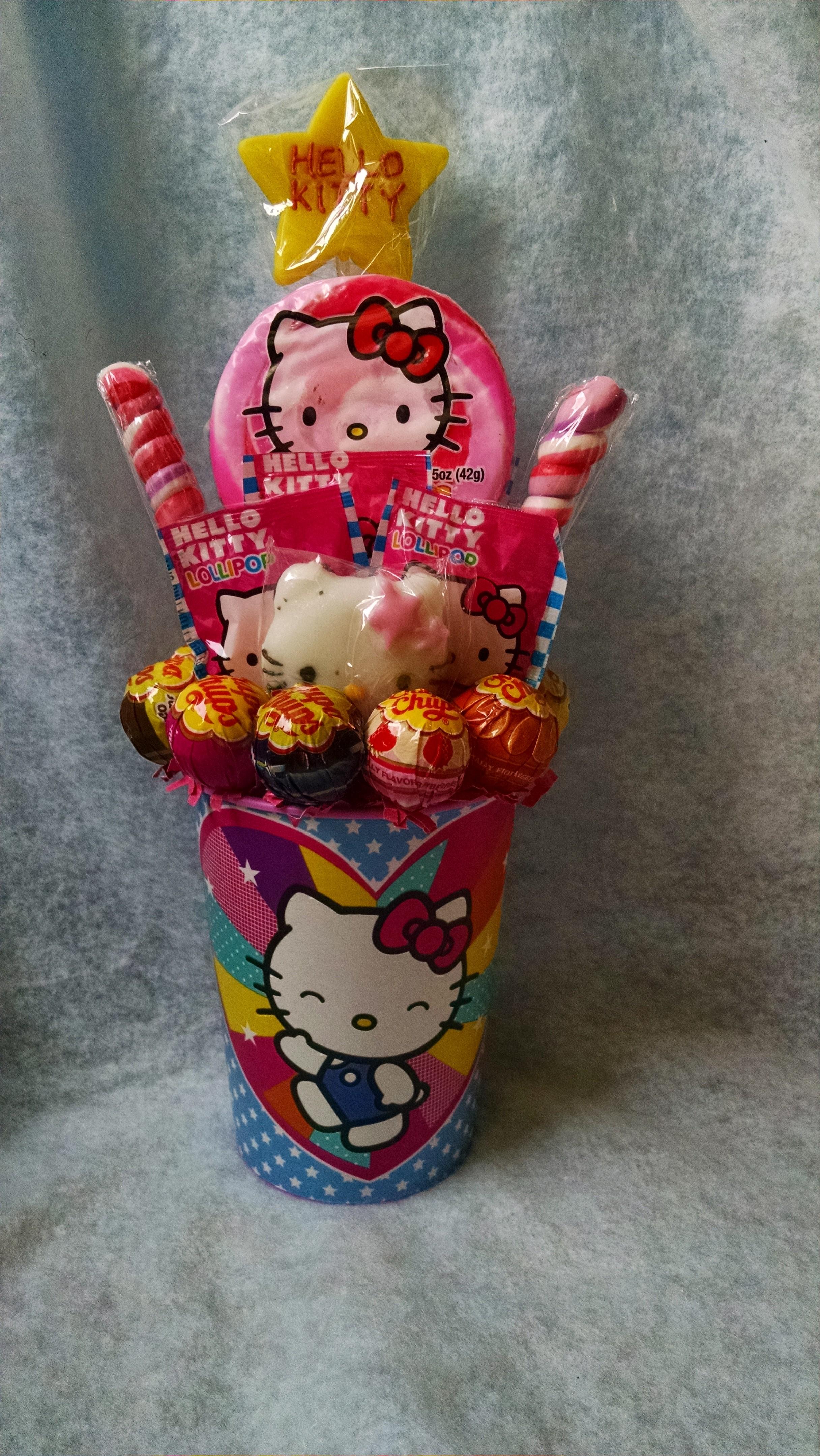 Connie 39 s creations hello kitty lollipop bouquet online for Bouquet original