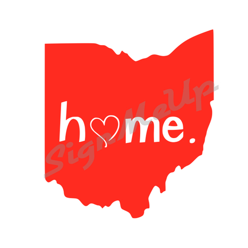 "I Love Ohio State ""Home."" Decal 5"" x 5.5"" Cute Vinyl ..."