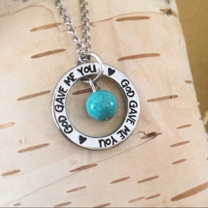 God Gave Me You Necklace Ring