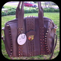 Taupe Spike Bag!