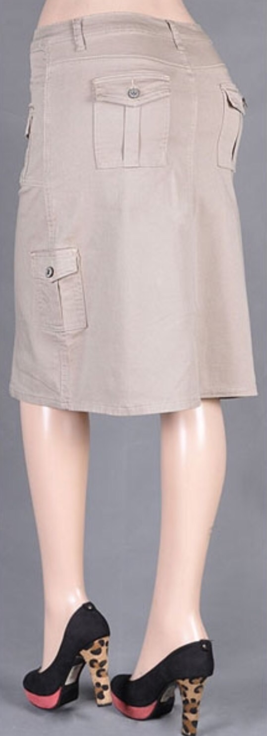 khaki denim cargo skirt 183 trendy wendy z boutique 183
