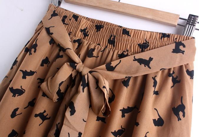 Cat Print Pleated Skirt from Urban Crush on Storenvy