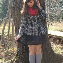 Black-forever21-dress-charcoal-gray-thrifted-coat-ruby-red-target-scarf_400_medium