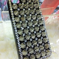 New Chic Rhinestones Silver Sharp Studded iPhone Case