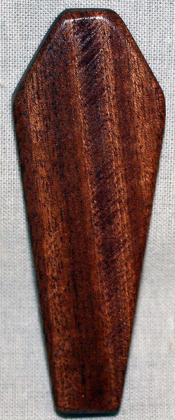 Mahogany Wood Color Variations ~ One coffin dark mahogany wood cosplay prop miniature