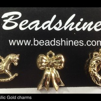 Metallic Gold Charms (dz) 20mm