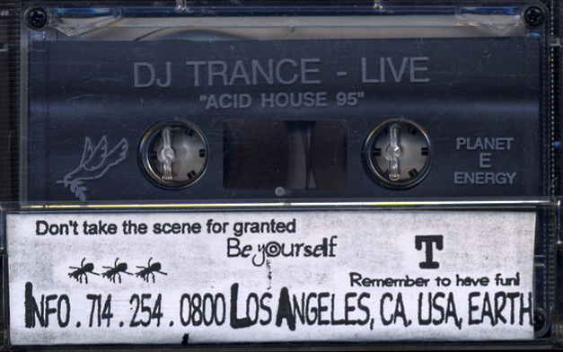 Dj trance acid house 95 1995 tape acid house fresh for House music 1995
