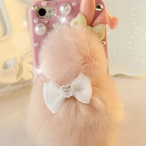 New Cute Chic Rabbit Fur Rabbit Shape iPhone Case