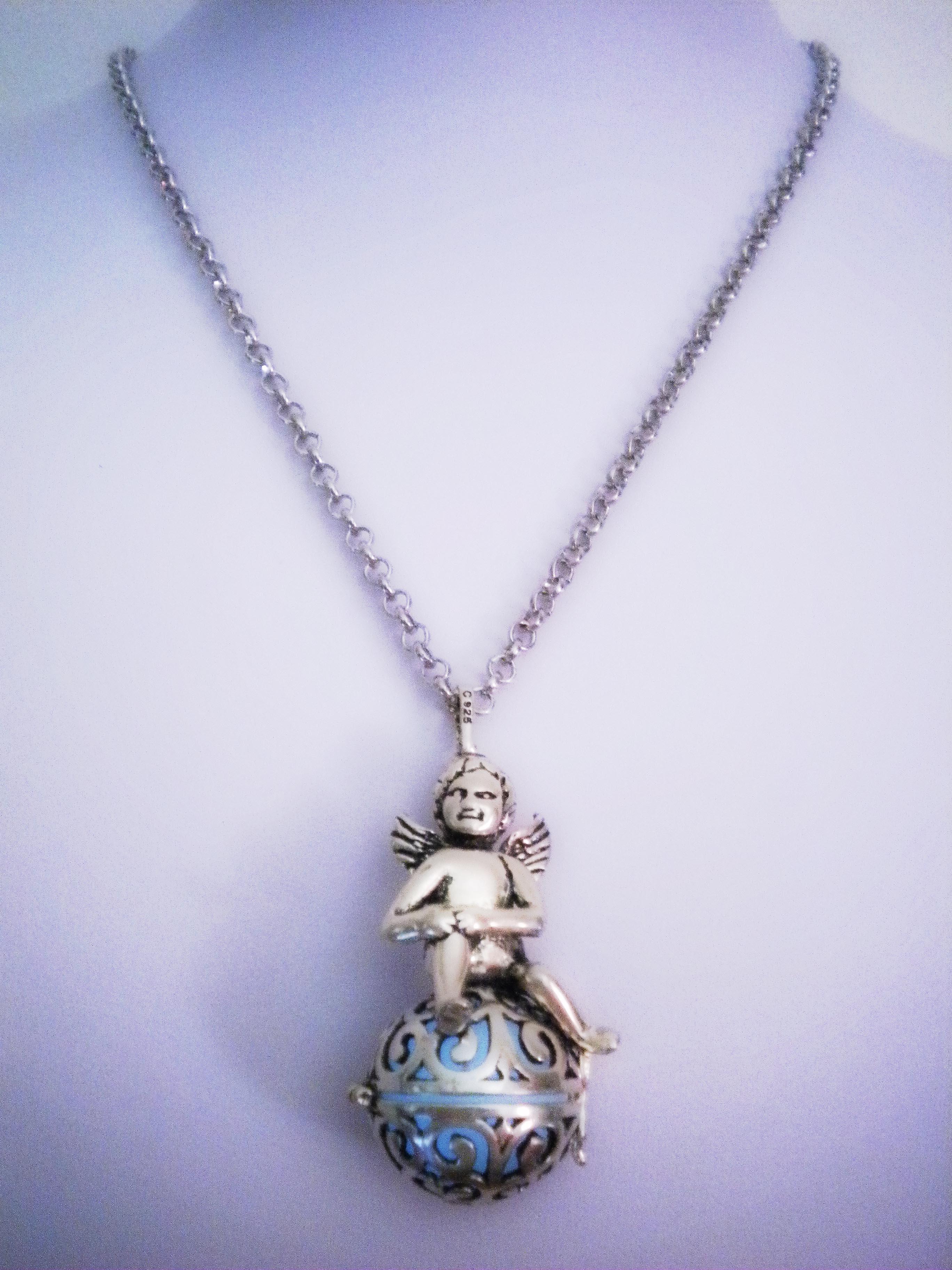 Angel amulet locket pendant glow in the dark wings pendant angel amulet locket pendant glow in the dark wings pendant heavenly keepsake aloadofball Choice Image