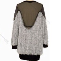 Backless Soft Fur Transparent Blouse.....! CUTE