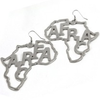 Africa earrings choose Gold or Silver