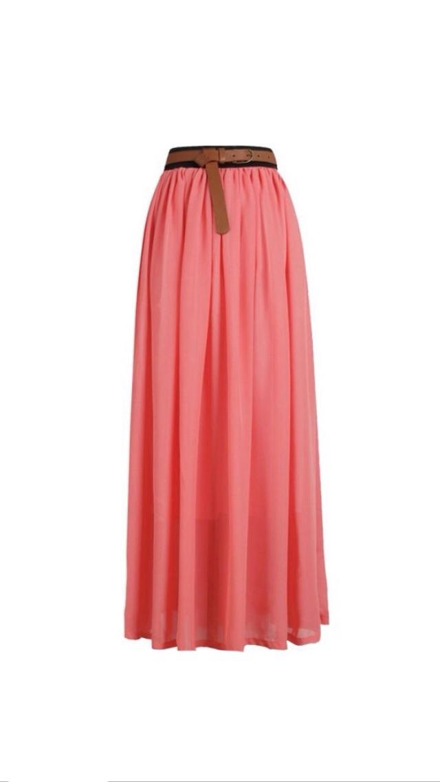 chiffon maxi skirt pink 183 s chic boutique 183