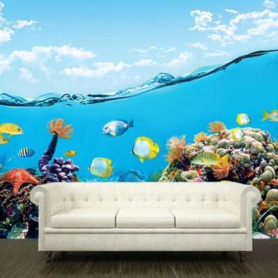 Ocean Wall Mural wall sticker mural ocean sea underwater decole film poster 102x157