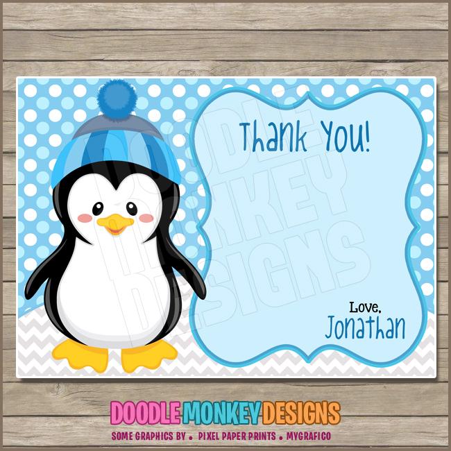 Penguin Boy Party Invitation Diy Printable Digital Invite