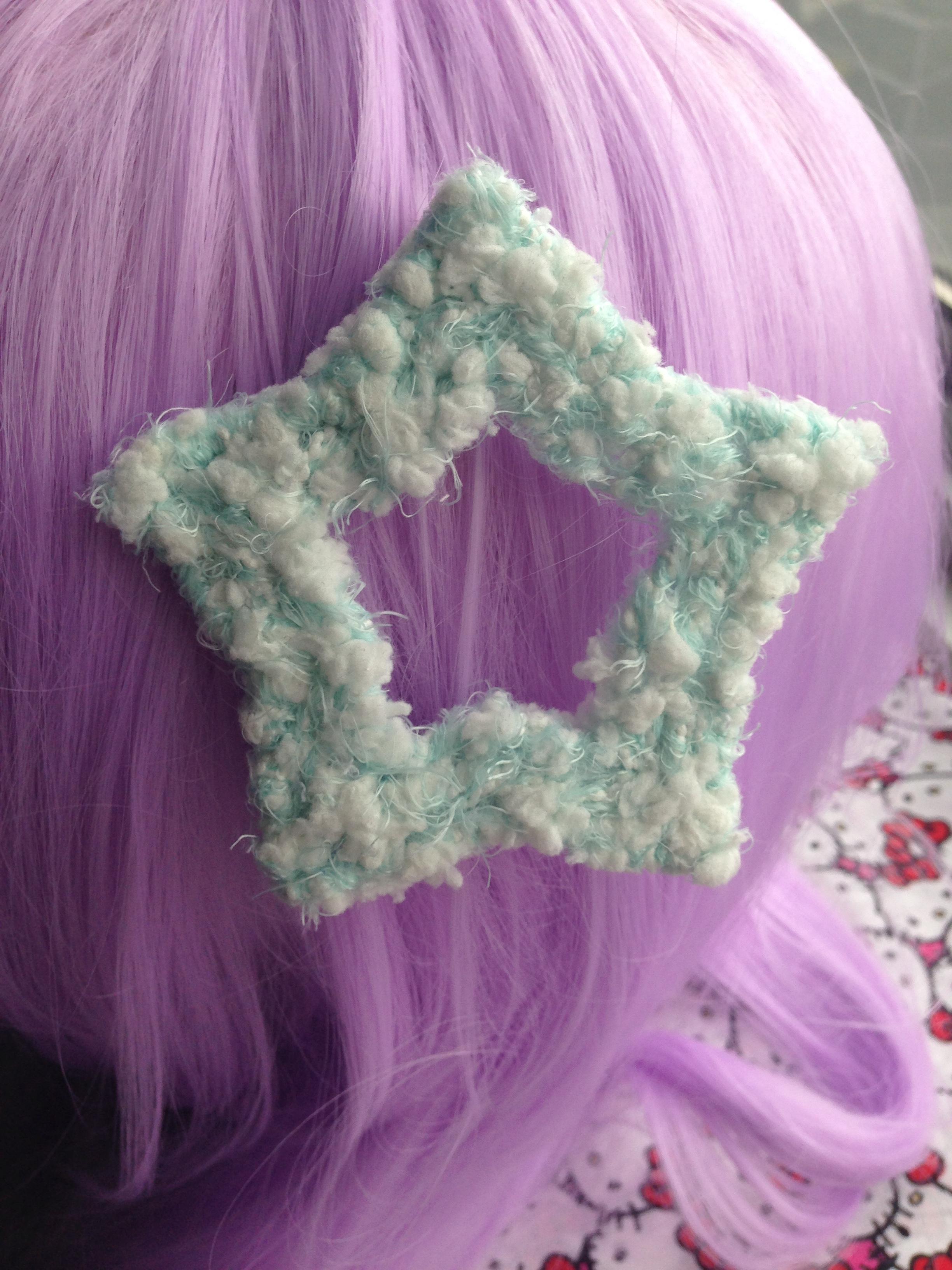 Soft & Fuzzy Star Hair Clip · Geeky Cute Creations ...