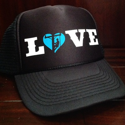 Love hat- teal