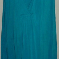 Turquoise Sleeveless Nursing Gown-George Size Large