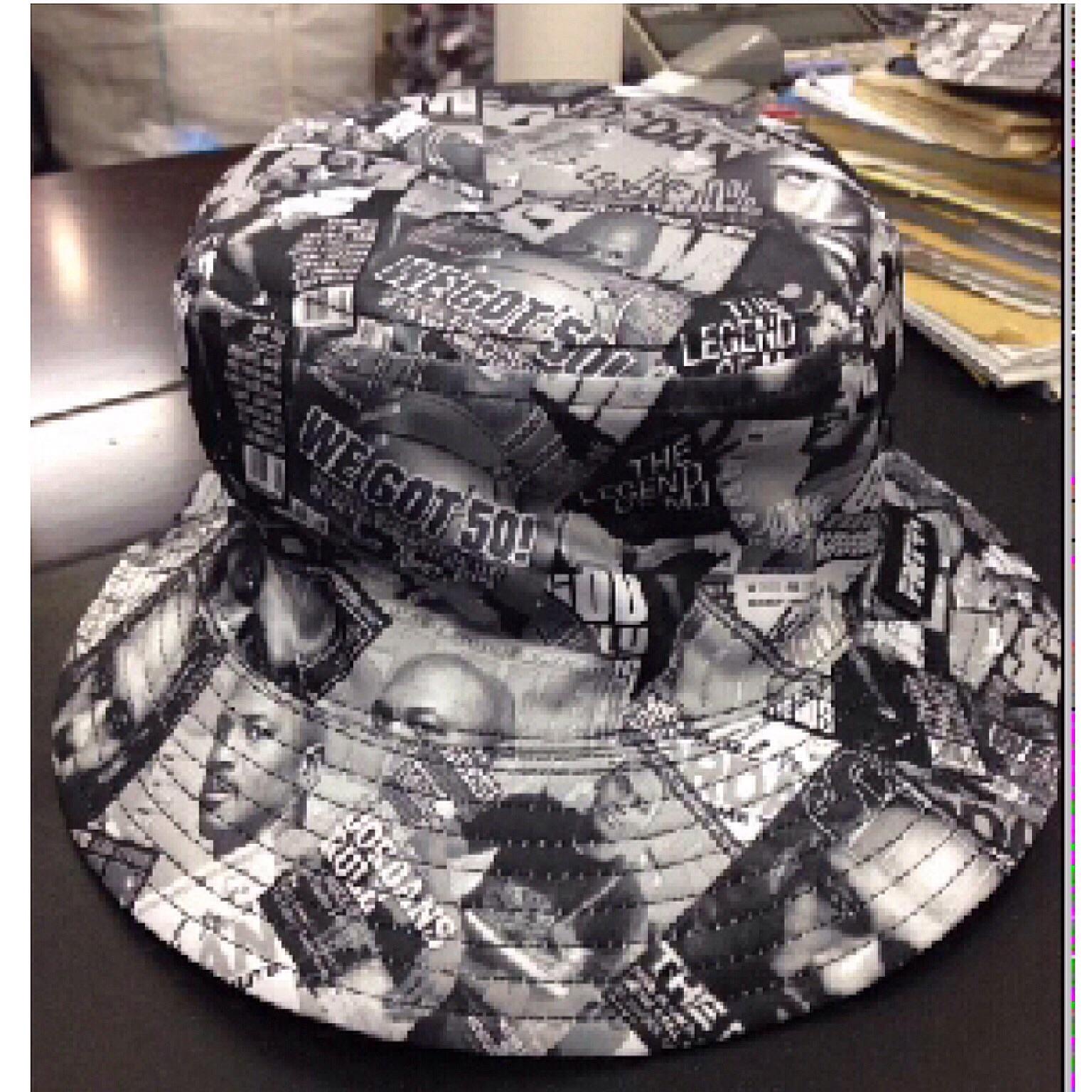 526020ba679 Black   White Tupac Bucket Hat · The Royal Life · Online Store ...