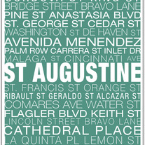 St Augustine Neighborhood Print