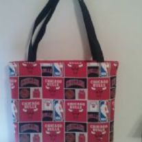 Chicago Bulls Cotton Print Tote Bag