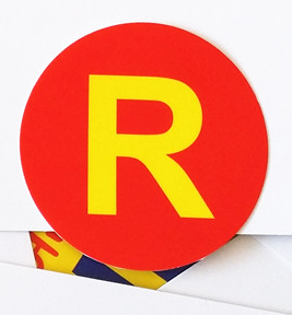Running man r sticker