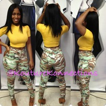 Army Fatigue high waist jeans