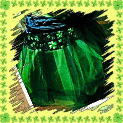 St patrick inspired green & black infant