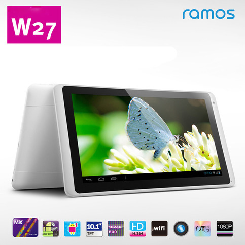 ramos w27 dual core 10 1 inches tablet 16gb 2*1 5ghz 1gb ram android 4 0