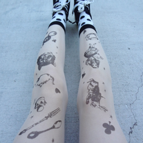 ALICE IN WONDERLAND STOCKINGS