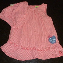 Red/White Gingham Sleeveless Dress with Matching Bloomers-Old Navy Size 6-12 Months