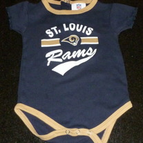 St Louis Rams Onesie-NFL Team Apparel Size 18 Months