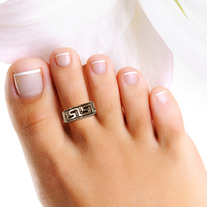 Greek Key Sterling Silver Toe Ring