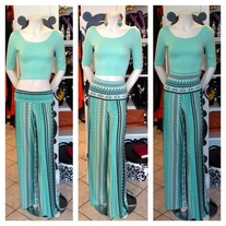 Mint Plazzo Pants