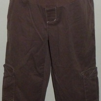 Brown Capris-Duo Maternity Size Medium  04121