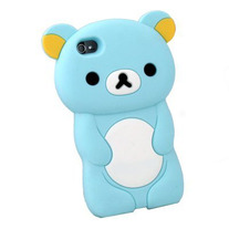 Soft Silicone 3D Rilakkuma iPhone 4 Case