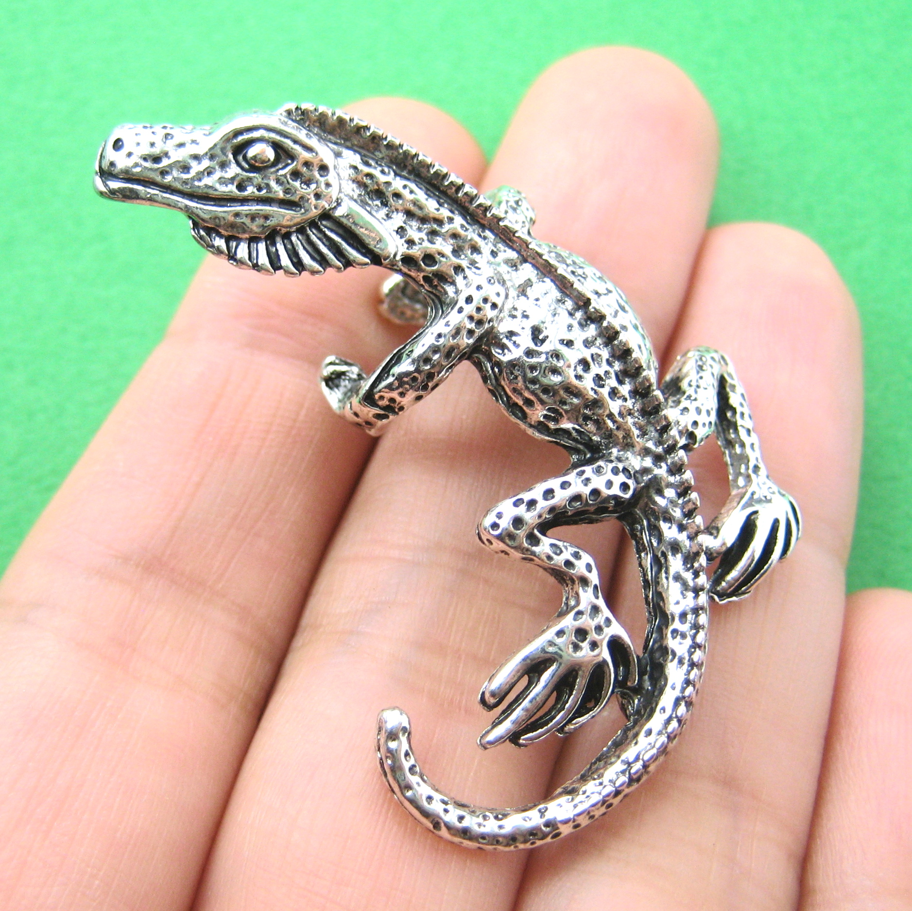 jewelry cgtrader ring li rings iguana print lizard models stl model