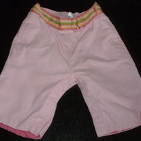 Pink Pants with Multi Color Belt-Baby Gap Size 6-12 Months