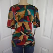 SOLD OUT! Vintage Colorful Tan Shirt Size 12!!
