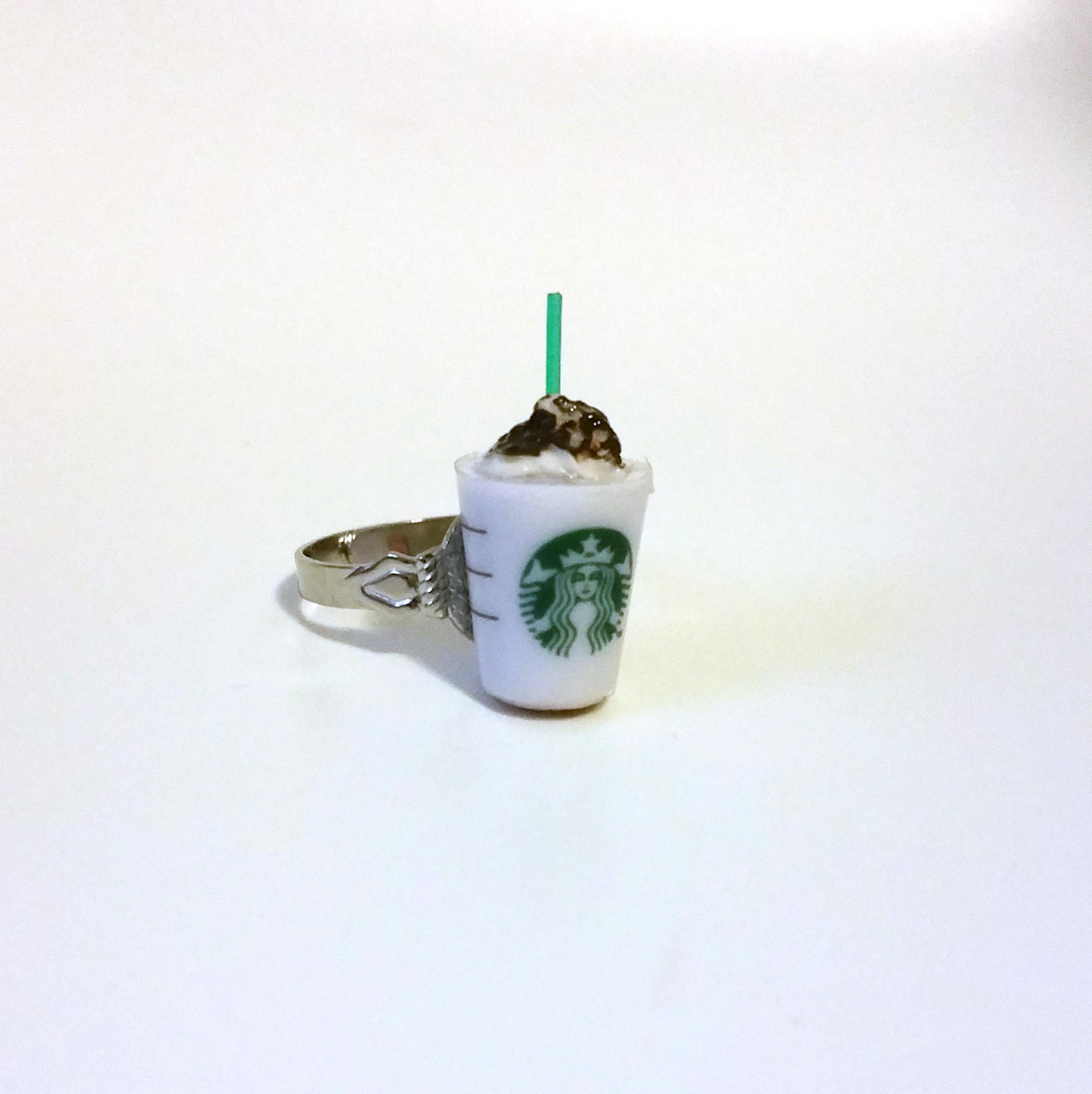 kawaii cute japanese ring   starbucks frappuccino coffee