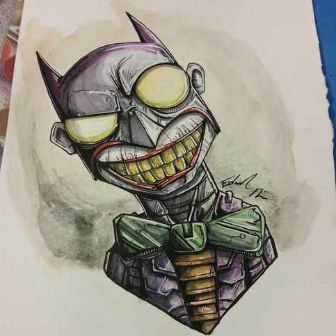Joker In Joker Bat Armor Print On Storenvy