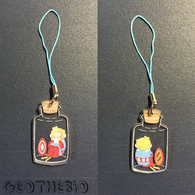 Cap bottle charms