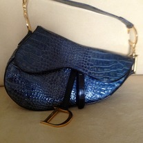 "Christian Dior Reptile/lizard saddle bag ""Very Rare"""