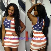Flag mini dress