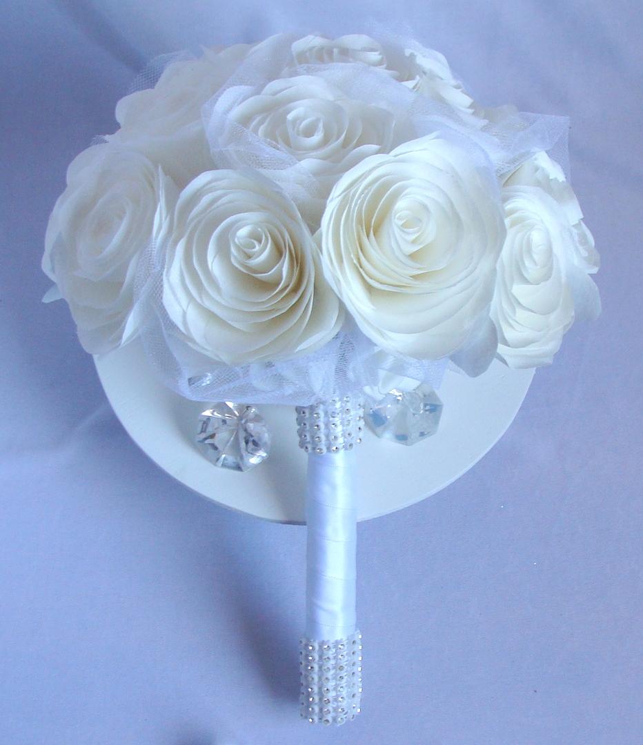 Artificial Bridal Bouquet White : White bridal bouquets paper artificial